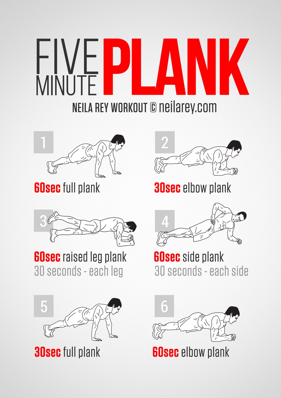 the five minutes workout plank