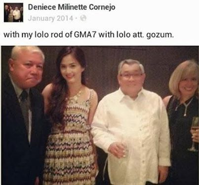 Denice with Lolo Rod of GMA7 with Lolo Attorney Gozum