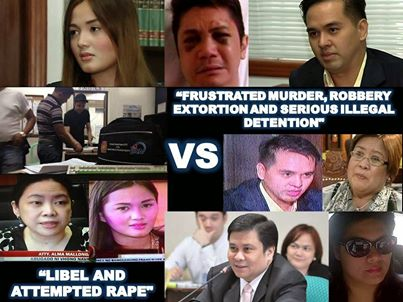 Vhong Frustrated Murder robbery, extortion and serious illegal detention vs Deniece Libel and attempted rape