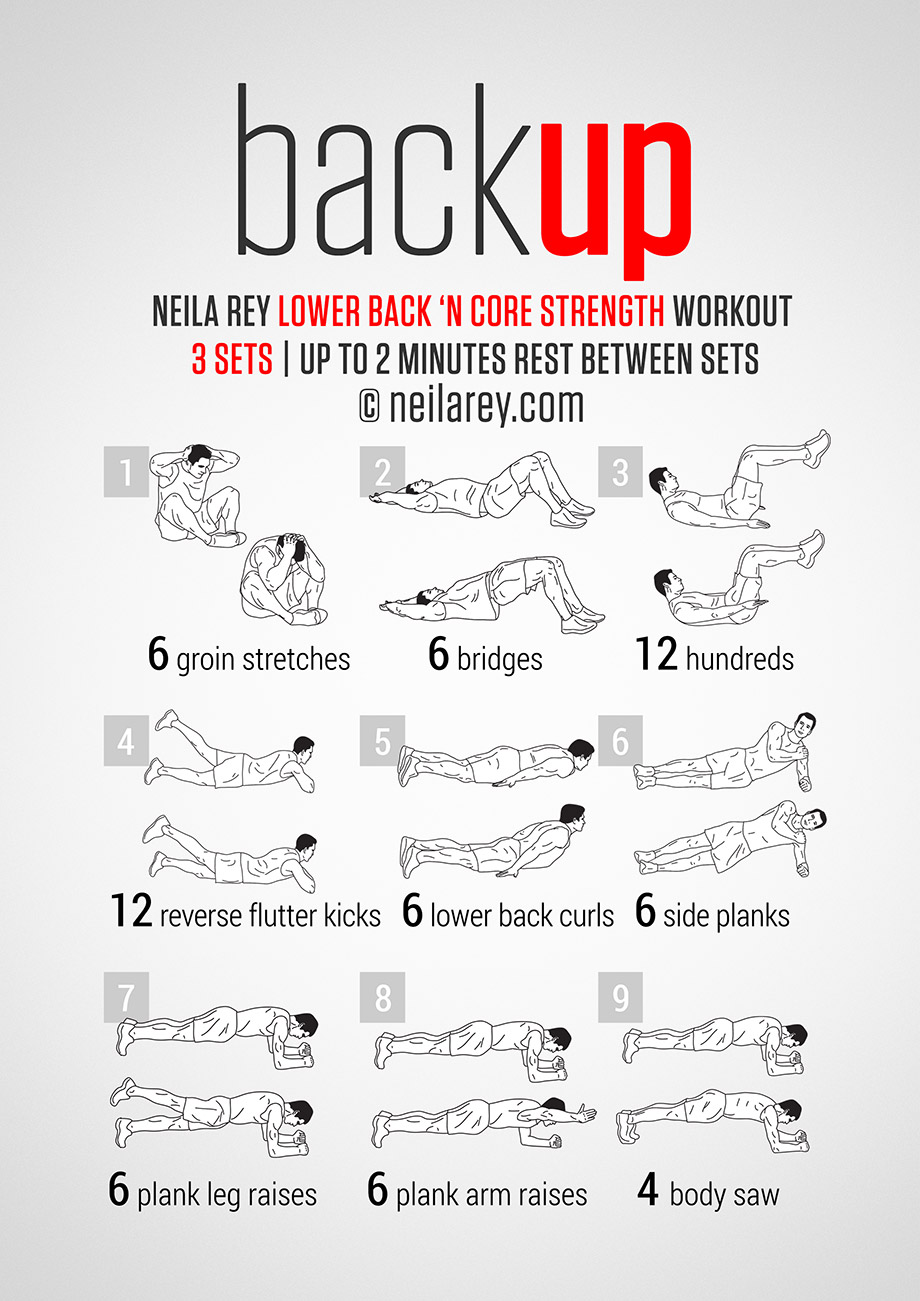 BackUp Workout For Men at Home