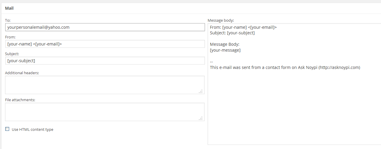Contact Form 7 not sending email