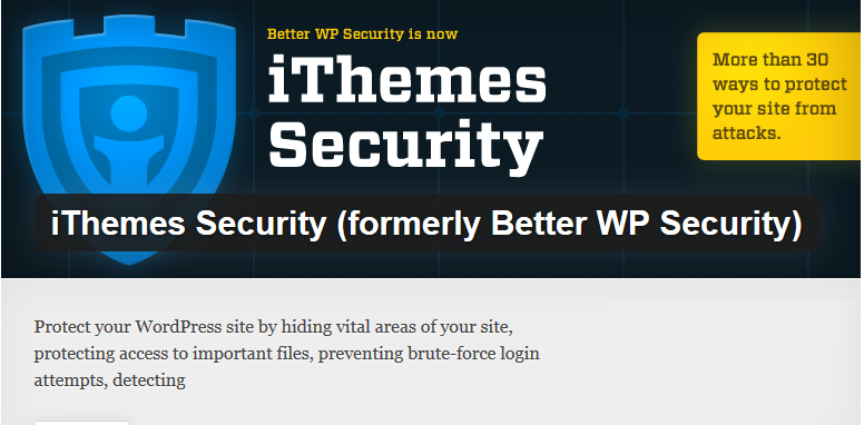 Security Plugin for WordPress iThemes