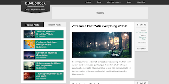 DualShock-Review-Wordpress Themes for blogging and magazine