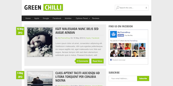 Free-Wordpress Theme-GreenChilli