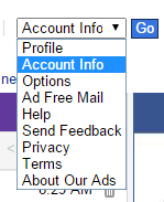 Account Info in Yahoo Mail Classic