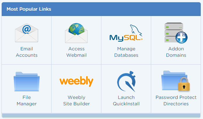 Hostgator quickinstall dashboard