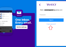 Login on Yahoo Mail Without Password Step 1